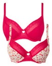 2 Pack Full Cup Butterfly Print Bras
