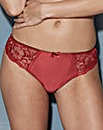 Satin & Lace Brazillian Black/Red Briefs