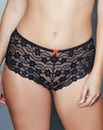 Daisy Lace Black Shorts