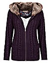 Joe Browns Hooded Fur Lned Cardigan