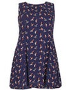 Samya Plus Size Bird Print Dress