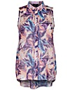 Koko Feather Print Sleeveless Shirt