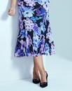 Floral Print Chiffon Skirt L29in