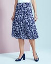 Print Jersey Panelled Skirt L27in