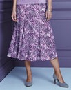 Print Slinky Skirt Length 32in