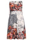 Samya Multi Print V Neck Dress