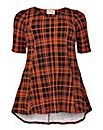 Sienna Couture Checked swing top