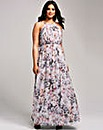 Little Mistress Grey Print Maxi Dress