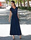 Together Applique Trim Lace Maxi Dress