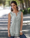 Together Sleeveless Lace Tunic