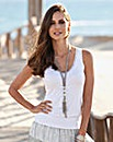 Together Sequin Trim Jersey Vest