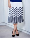 JOANNA HOPE Pleated Print Skirt