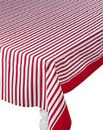 Red Folk Cotton Table Cloth