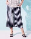 Stripe Wide-Leg Jersey Culottes