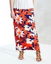 Floral Print Jersey Tube Maxi Skirt