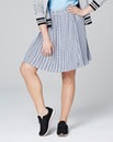 Print Pleated Mini Skirt
