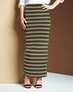 Stripe Jersey Maxi Tube Skirt