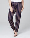 Stripe Jersey Harem Trousers Regular