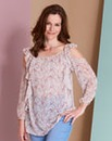 Simply Be Cold Shoulder Ruffle Blouse