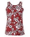 Red Floral Print Jersey Vest