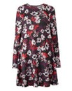 Dark Floral Soft Touch Tunic