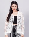 Simply Be Lace Bomber Jacket