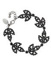 Jon Richard Jet Diamante Flower Bracelet