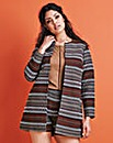 Colourful Jacquard Duster Coat