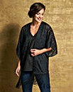 Black Burnout Tassel Kimono