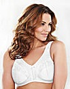 2 Pack Non Wired Minimiser White Bras