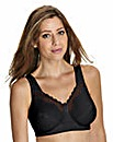 Bestform Black Cotton Comfort Bra