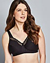 Bestform Cotton Comfort Black Bra
