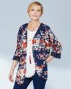 Jersey Kimono With Crochet Trim