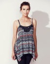 Asymmetric Lace Trim Vest