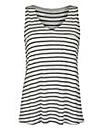 Ivory/Black V-Neck Jersey Vest