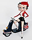 Betty Boop On Union Jack Scooter