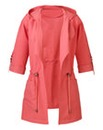 Waterfall Front Jacket - Soft Coral
