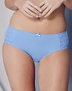 2 Pack Star Mesh Blue/Coral Midi Briefs