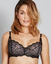 Jasmine Deco Black Lace Balcony Bra