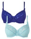 2 Pack Emily Full Cup Blue/Aqua Bras