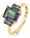 9 Carat Gold Mystic Topaz Ring