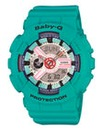 Baby G LED Light Green Watch