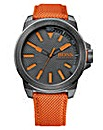 BOSS Orange Gents Fabric Strap Watch