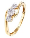9 Carat Diamond Set Fancy Twist Ring