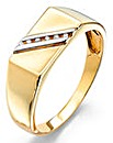 9 Carat Gold Gents Diamond Set Ring