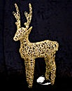 Rattan Style Glitter Outdoor Reindeer