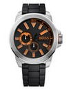 Boss Orange Gents Black Silicone Watch