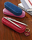 Pen and Pencil Set in Suede Case