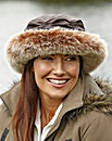 Wax Hat With Faux Fur Trim