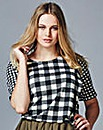 Simply Be Gingham Check Scuba Shell